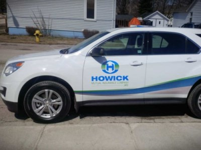 car with Howick logo